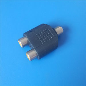 6.35mm/3.5mm Stereo Plug to 2RCA Plug (A-016) pictures & photos