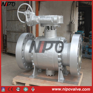 Cast Steel Three Piece Flanged Trunnion Ball Valve pictures & photos
