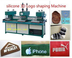 Silione Garment Label Machine on Socks pictures & photos