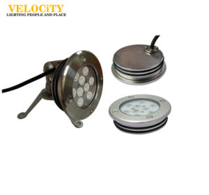 9PCS CREE IP68 RGB Stainless Steel LED Underwater Light for Swimming Pool pictures & photos