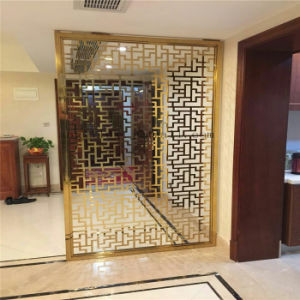 Factory Customized Indoor and Outdoor Decorative Metal Screen Partition Stainless Steel Divider Screen Door pictures & photos