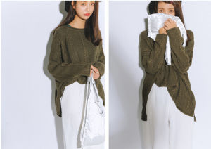 2015 Autumn Winter Loose Clothes Knitting Pullover Ladies Sweater Manufacturer Wholesale pictures & photos
