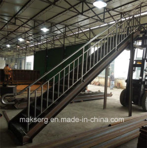 Construction Steel Staircase with balustrade pictures & photos