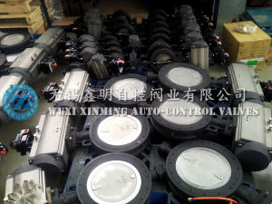 High Performance Wafer Butterfly Valves with Pneumatic Actuator pictures & photos