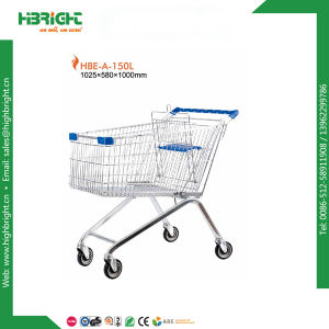 Zinc Galvanized Shopping Hand Grocery Trolley with Cheap Price pictures & photos