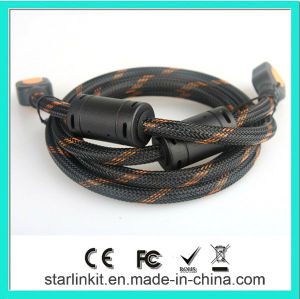 High Speed HDMI Cable 3D 4k Gold Plated Black Orange pictures & photos