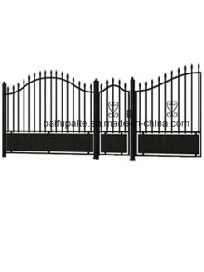 Garden Iron Gate with Sharp End Hot Dipped Galvanised Finishing Good Quality pictures & photos