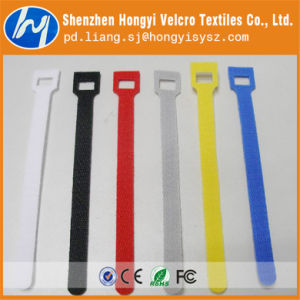 Dacron Colorful Non-Brushed Loop Hook&Loop Cable Tie pictures & photos