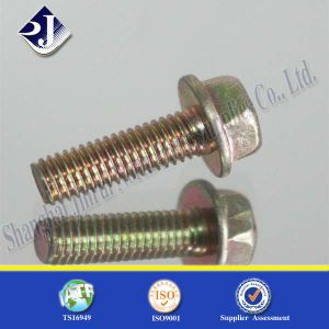Flange Bolt with Yellow Zinc Palted pictures & photos