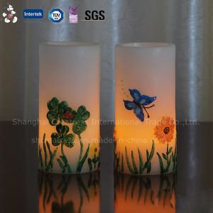 Flickering Flame Flameless Wick Pillar LED Candle pictures & photos
