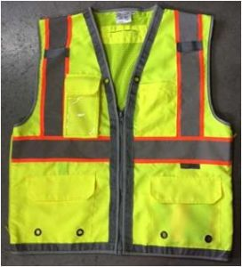 Hi Visibility Deluxe Safety Vest with Yellow (DFJ1602) pictures & photos