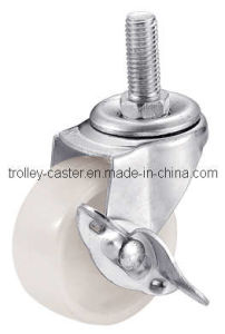 3 Inch Light Duty White PP Caster with Side Brake pictures & photos