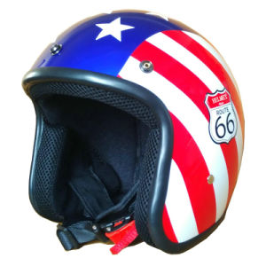 ABS 3/4 Open Half Face Motorcycle Helmet, Glitter Helmet (MH-006) pictures & photos