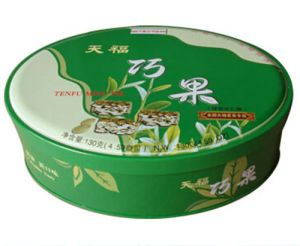 Oval Shape Candy Tin Box pictures & photos