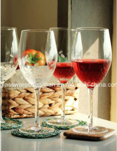 Hand Made Etched Red Wine Glass (B-WG063) pictures & photos