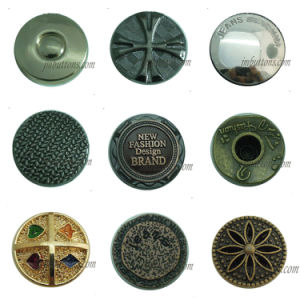 Plating Garments Fashion Abstract Metal Buttons pictures & photos