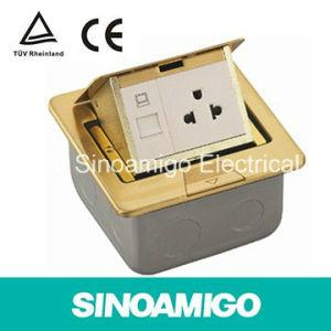 IP44 Waterproof Brass Pop up Floor Socket and Table Socket pictures & photos
