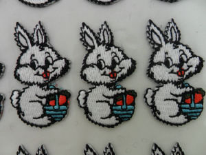 Custom Stick-on Embroidered Patches for Kids Clothes pictures & photos