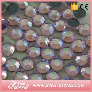 Lt Peach T-Shirt Stone Crystal Rhinestone Diamond pictures & photos