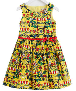Fashion Cotton Flower Girl Dress in Children Frock with Children Clothes pictures & photos