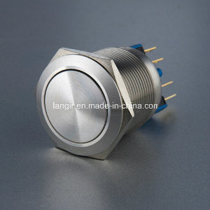 22mm Non-Illuminated Latching Stainless Steel Push Button Switch pictures & photos