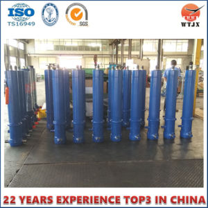 Hyva Type Telescopic Hydraulic Cylinder for Tipper Truck pictures & photos