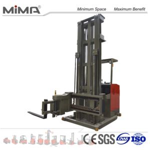 Electric Trilateral Pallet Stacker with Forkd Turning 180 Degrees pictures & photos