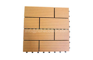 Nature Wood-Like Wood Anti-UV Crack-Resistant WPC Flooring Tile pictures & photos