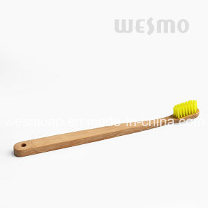 Eco-Friendly dark-Brown Bristle Bamboo Toothbrush pictures & photos