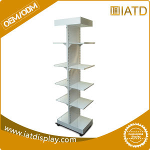 Rotating Floor Double Sides Metal Pegboard Display Rack pictures & photos