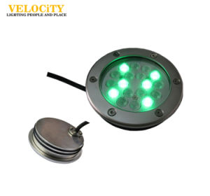 DC24V 6PCS 6W/12W Stainless Steel RGB LED Underwater Fountain Light pictures & photos