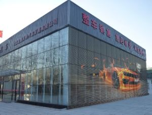 Transparent LED Display for Building Advertising