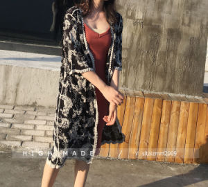 Long Sleeve Shoulder-off Blouse Back Lace Hollow out Blouse for Women Outfit Wear pictures & photos
