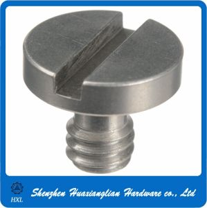 CNC Machining Stainless Steel Slotted Head Camera Fixing Screw (1/4-20 3/8-16) pictures & photos