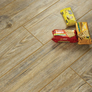 New Laminate Flooring Brushed Metal Surface with V-Groove G004#
