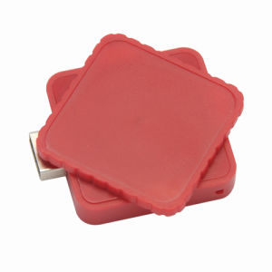 Square Custom Retractable USB Flash Drive with Epoxy Dome Label 1GB 2GB pictures & photos