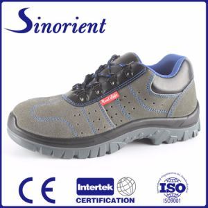 2015 Italian Suede Leather Oil Resistant Safety Shoes pictures & photos