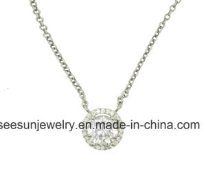 Fashion Sterling Silver Jewelry Necklace with AAA Zirconia pictures & photos
