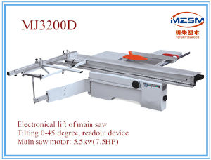 Mj3200d Model Woodworking Sliding Table Panel Saw Machine with Automatic Lifting Saw Blade Wood Saw pictures & photos