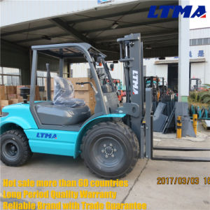China Forklift Truck 3 Ton All Terrain Forklift on Sales pictures & photos