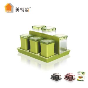 Metka Kitchen Supplies New Product Plastic Square Cruet 6 Cans pictures & photos