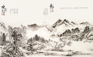 God Rewards The Diligent Painting Chinoiserie Corrugated Paper with Bamboos and Carps Model No.: Wl-0220 pictures & photos