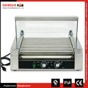 High Quality Products Hot Dog Grill Sausage Roasting Machine with Glass Cover pictures & photos