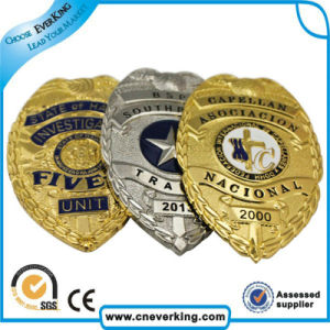 Custom Shape/Logo Metal Enamel Police Pin Badge pictures & photos