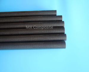 3k Silver Wire Carbon Fiber Tube/Pipe for Decoration pictures & photos