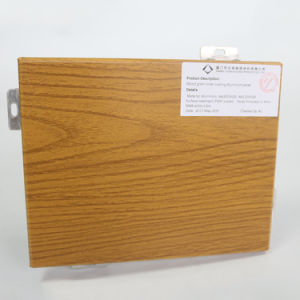 Wood Grain Color Coated Aluminum Sheet for Curtain Wall pictures & photos