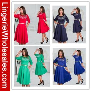 Hot Sale Women′s Long Sleeve Sexy Dress