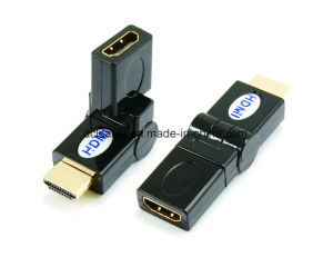 270 Degree Rotating HDMI Male to Female Adapter pictures & photos