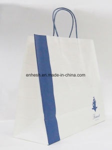 High Quality Brown Kraft Paper Bag with Flat Handle Wholesale pictures & photos