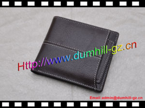Handmade PU Leather Bifold Simple Wallet pictures & photos
